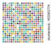 set of 200 universal icons.... | Shutterstock .eps vector #453301774