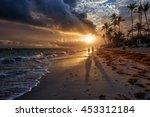 sunrise in punta cana in... | Shutterstock . vector #453312184