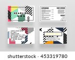 4 annual report brochure... | Shutterstock .eps vector #453319780