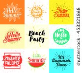 set of summer vector... | Shutterstock .eps vector #453321868