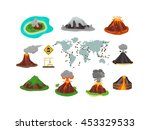 volcano magma nature blowing up ... | Shutterstock .eps vector #453329533