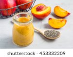 smoothie with nectarine  orange ... | Shutterstock . vector #453332209