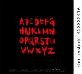 alphabet   number   handwriting ... | Shutterstock .eps vector #453332416