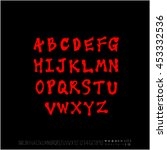 alphabet   number   handwriting ... | Shutterstock .eps vector #453332536