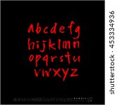 alphabet   number   handwriting ... | Shutterstock .eps vector #453334936