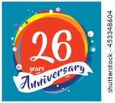 26th years greeting card... | Shutterstock .eps vector #453348604