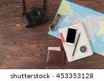 travel concept traveler's...   Shutterstock . vector #453353128