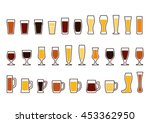Beer Glass. Set Icons Of Beer...
