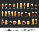 Set Icons Of Beer With Foam In...