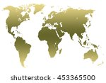 khaki green gradient worlds map ... | Shutterstock . vector #453365500