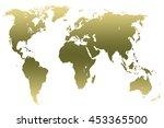 khaki green gradient worlds map ... | Shutterstock . vector #453365500
