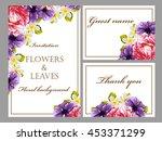 romantic invitation. wedding ... | Shutterstock .eps vector #453371299