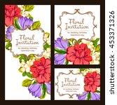 romantic invitation. wedding ... | Shutterstock .eps vector #453371326