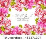 romantic invitation. wedding ... | Shutterstock .eps vector #453371374
