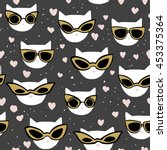 vector seamless pattern with... | Shutterstock .eps vector #453375364
