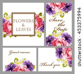 invitation with floral... | Shutterstock .eps vector #453375994