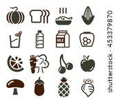 vegetables  fruit icon set | Shutterstock .eps vector #453379870