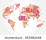health and life world map in... | Shutterstock .eps vector #453382648