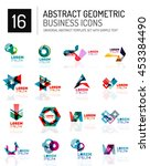 abstract geometric business... | Shutterstock . vector #453384490