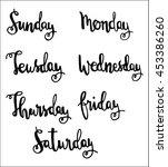 handwritten days of the week ... | Shutterstock .eps vector #453386260