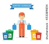 set of containers for separate... | Shutterstock .eps vector #453389854