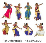 isolated indian kuchipudi and... | Shutterstock . vector #453391870