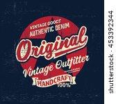 graphic tee. vintage logo... | Shutterstock .eps vector #453392344