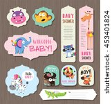 greeting cards  gifts  stickers ... | Shutterstock .eps vector #453401824