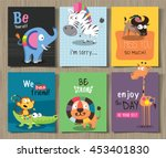 collection of cute cards for... | Shutterstock .eps vector #453401830