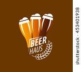 vector beer logo | Shutterstock .eps vector #453401938