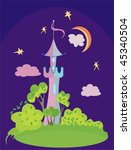 safe home to princess | Shutterstock .eps vector #45340504