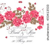 wedding card or invitation with ... | Shutterstock .eps vector #453413533