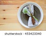 simple rustic summer season... | Shutterstock . vector #453423340