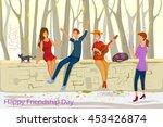 friend celebrating happy... | Shutterstock .eps vector #453426874