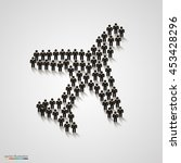 a group of people in the form... | Shutterstock .eps vector #453428296