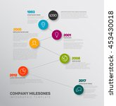 vector infographic timeline... | Shutterstock .eps vector #453430018
