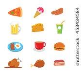 isolated food vector cartoon... | Shutterstock .eps vector #453434584