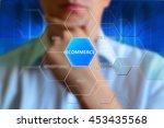 ecommerce concept. e commerce... | Shutterstock . vector #453435568