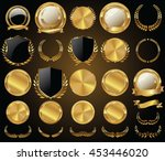 vector medieval golden shields...