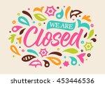 closed calligraphy  handwritten ... | Shutterstock .eps vector #453446536