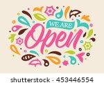 open calligraphy  handwritten... | Shutterstock .eps vector #453446554