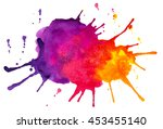 abstract colorful spots and... | Shutterstock . vector #453455140