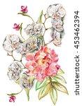 bouquet to a wedding. wedding... | Shutterstock . vector #453462394