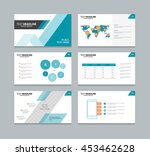 page layout design template for ... | Shutterstock .eps vector #453462628