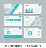 abstract blue page layout... | Shutterstock .eps vector #453462646