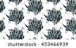 hand drawn vector seamless... | Shutterstock .eps vector #453466939