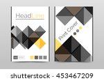 geometric brochure front page ... | Shutterstock .eps vector #453467209