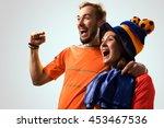 soccer fan emotions in action | Shutterstock . vector #453467536