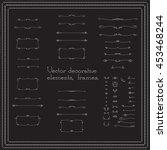 set of linear hand drawn frames ...   Shutterstock .eps vector #453468244