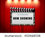 theater sign slate on curtain... | Shutterstock .eps vector #453468538